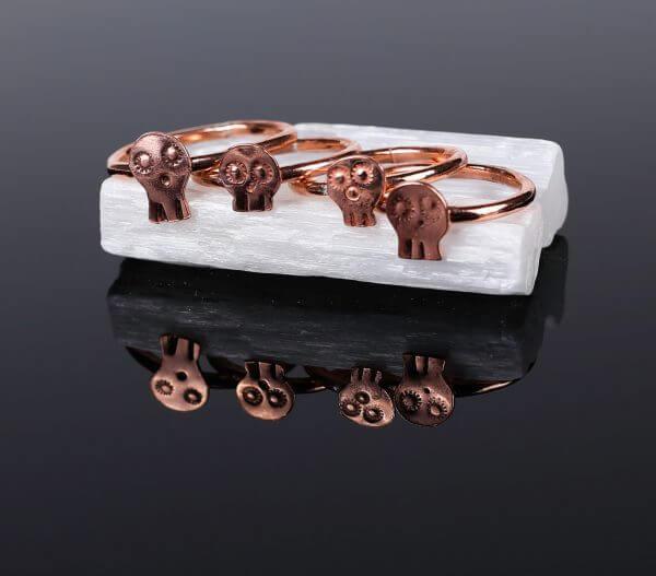 Copper-Sugar-Skull-Ring