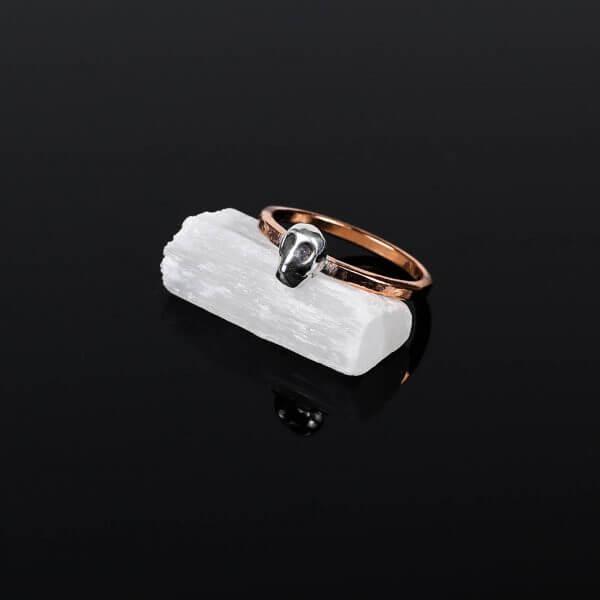 Memento-Mori-Ring-Copper-Band-Silver-Skull