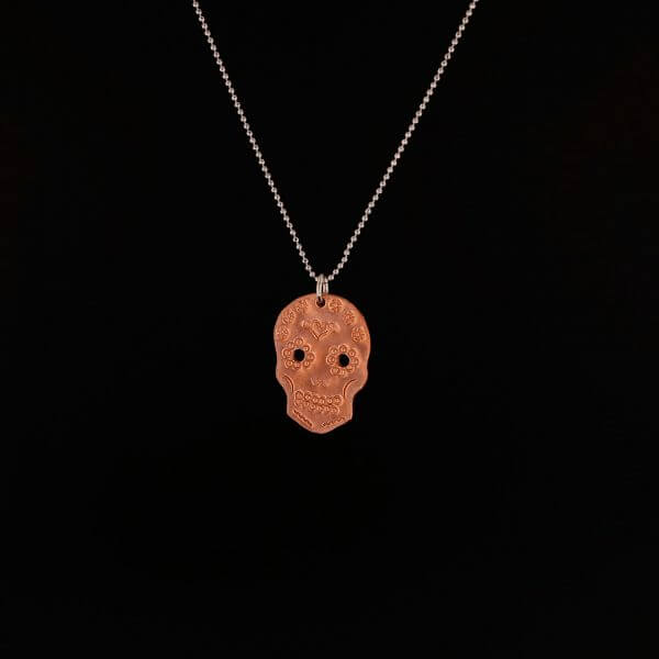 Small-Hanging-Copper-Skull-Necklace