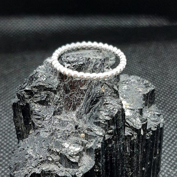 silver beaded