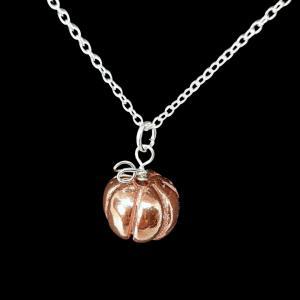 copper pumpkin necklace